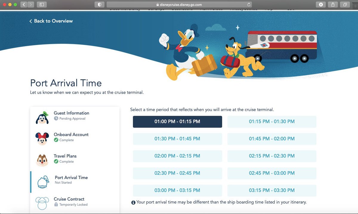 DCL Online Checkin 2021 5
