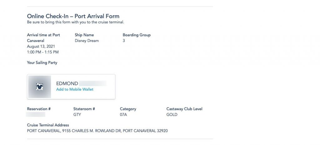 DCL Online Checkin 2021 9