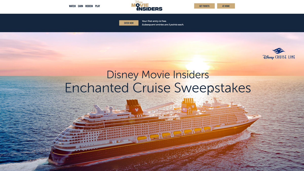 Disney Movie Insiders Enchanted Cruise Sweepstakes