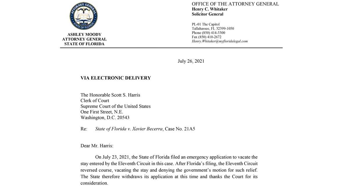 FL Vs CDC US Supreme Court 20210726