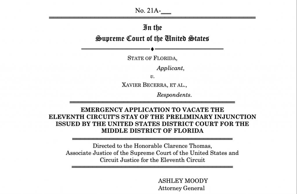 FL Vs CDC US Supreme Court 20210723