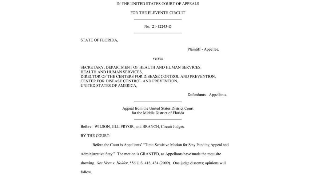 Florida Vs CDC USCA11 Case 21 12243 Ruling 20210717