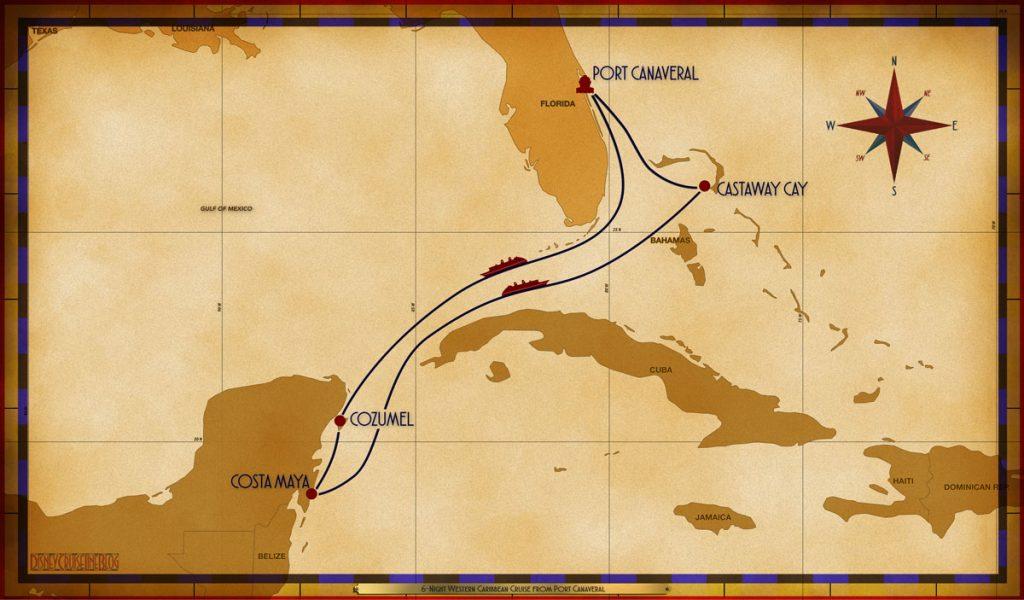 Map Fantasy 6 Night Western Caribbean PCV SEA CZM CTM SEA GOC
