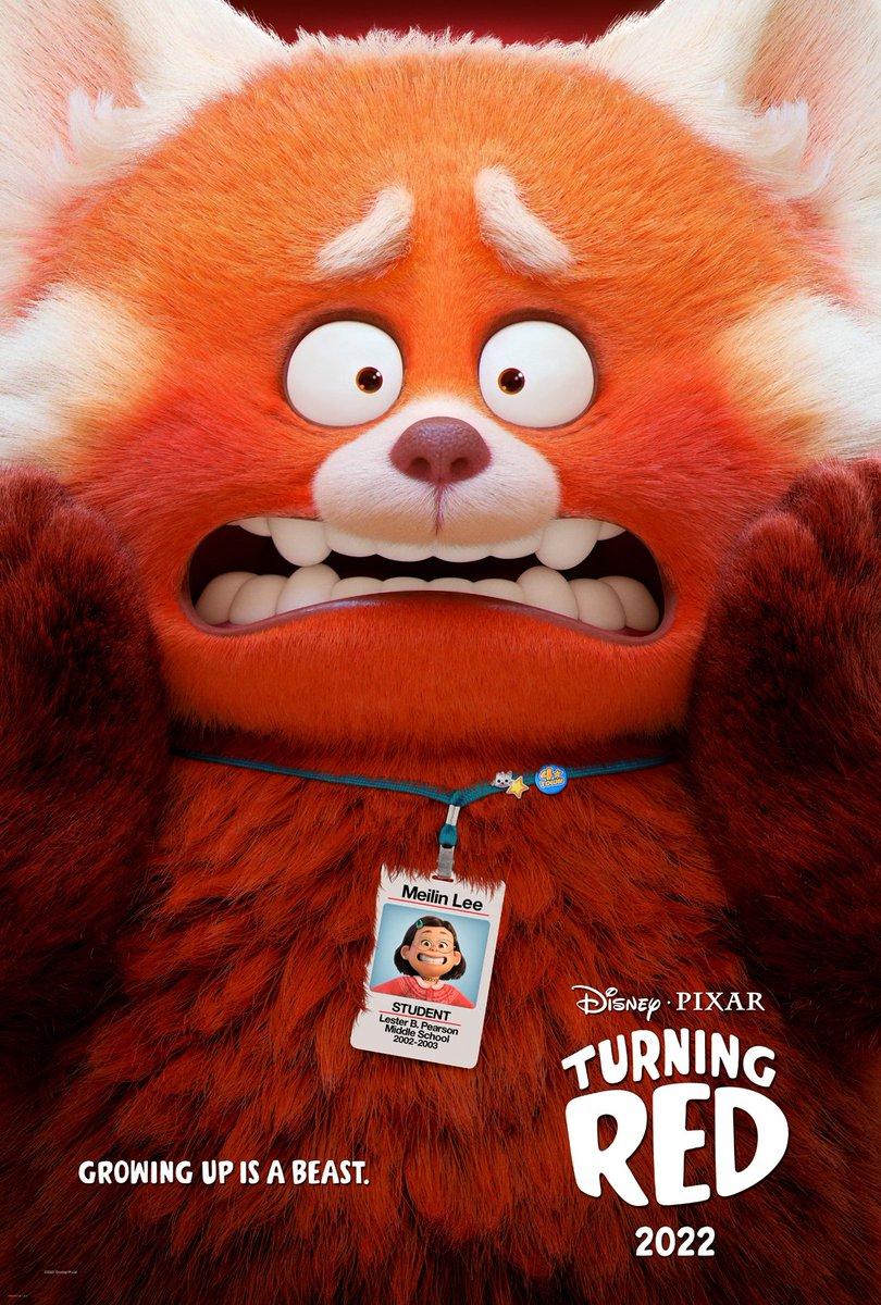 Pixar Turning Red Movie Poster