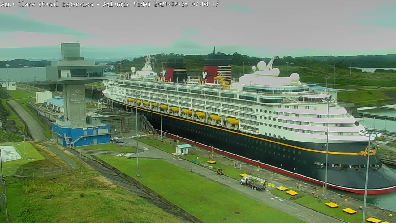 Disney Wonder Panama Canal Agua Clara Locks 20210825