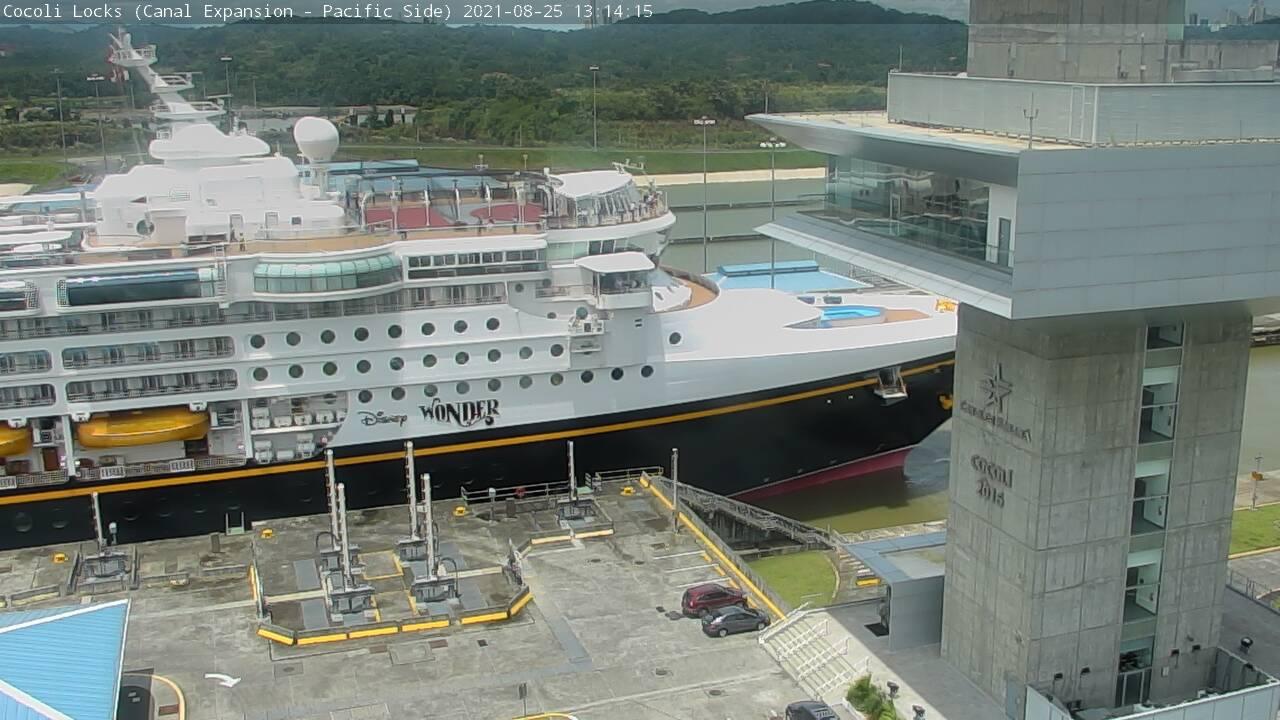 Disney Wonder Panama Canal Cocoli Locks 20210825