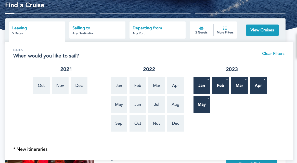 DCL Early 2023 Online Booking Platinum 20211014