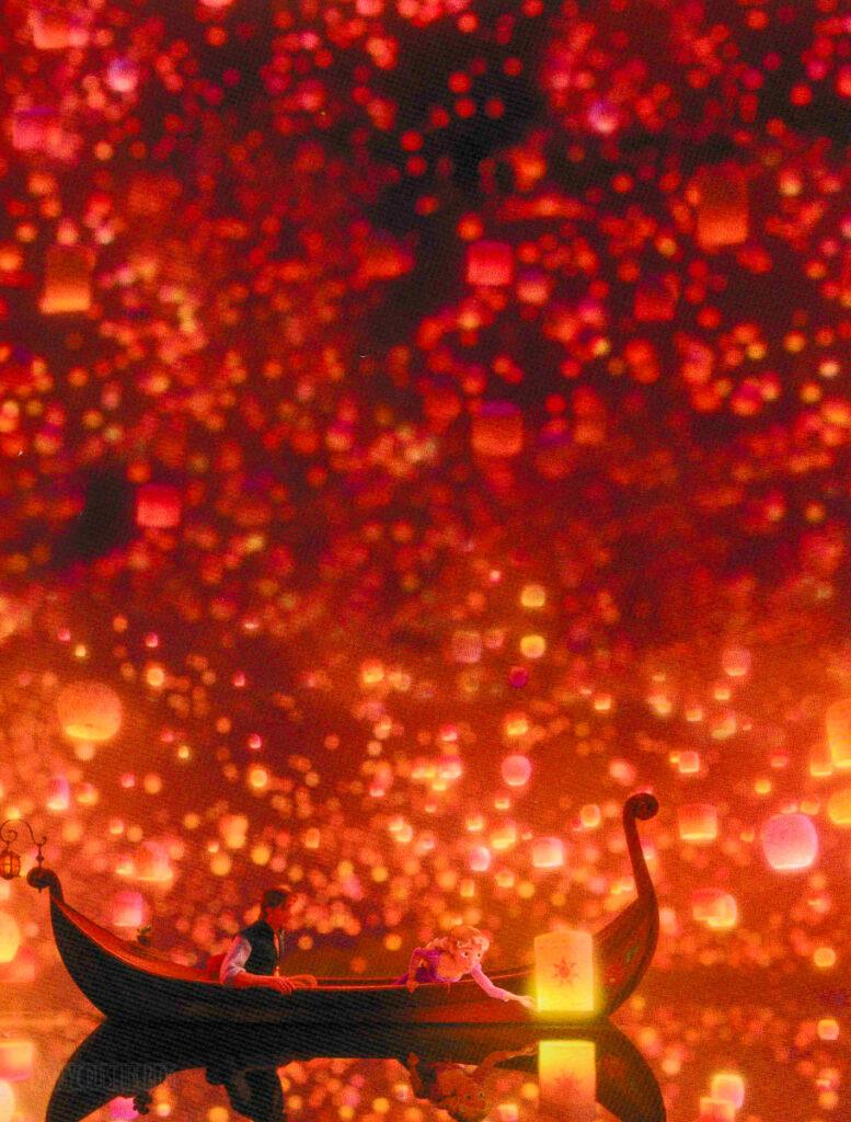 DCL Magic Rapunzels Royal Table Lantern Night Dinner Menu 1 Su