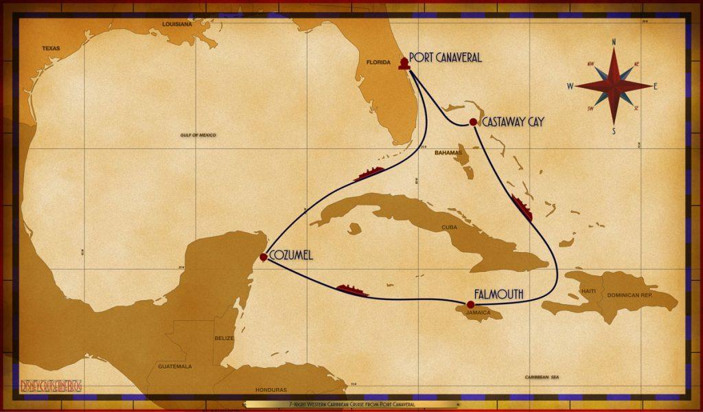 Map Fantasy 7 Night Western Caribbean PCV SEA CZM SEA FMH SEA GOC