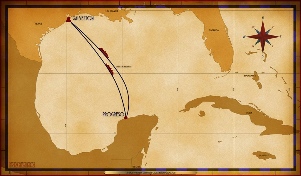 Map Magic 4 Night Western Caribbean GLS SEA PGO SEA