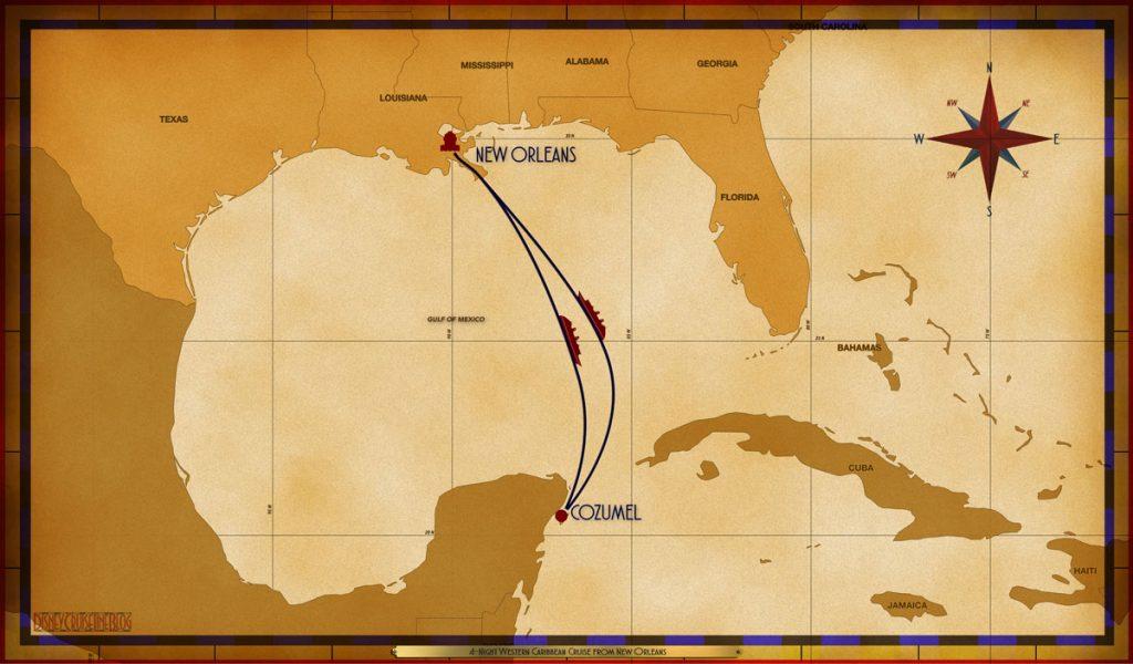 Map Magic 4 Night Western Caribbean MSY SEA CZM SEA