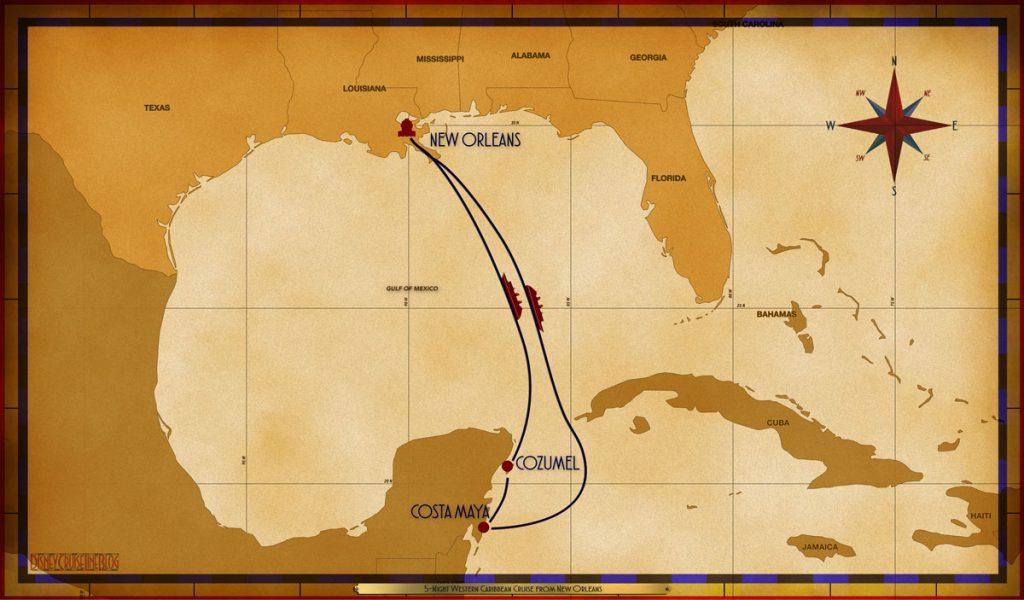 Map Magic 5 Night Western Caribbean MSY SEA CTM CZM SEA