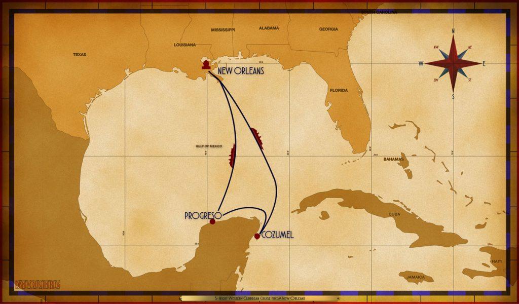 Map Magic 5 Night Western Caribbean MSY SEA CZM PGO SEA
