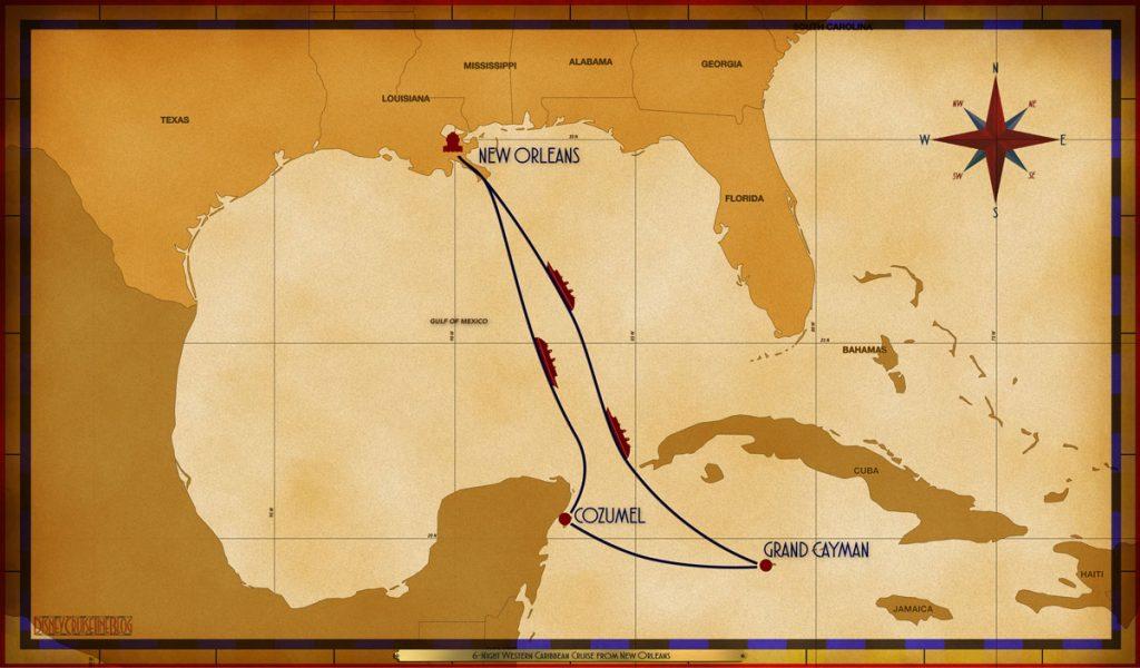 Map Magic 6 Night Western Caribbean MSY SEA CZM GEC SEA SEA