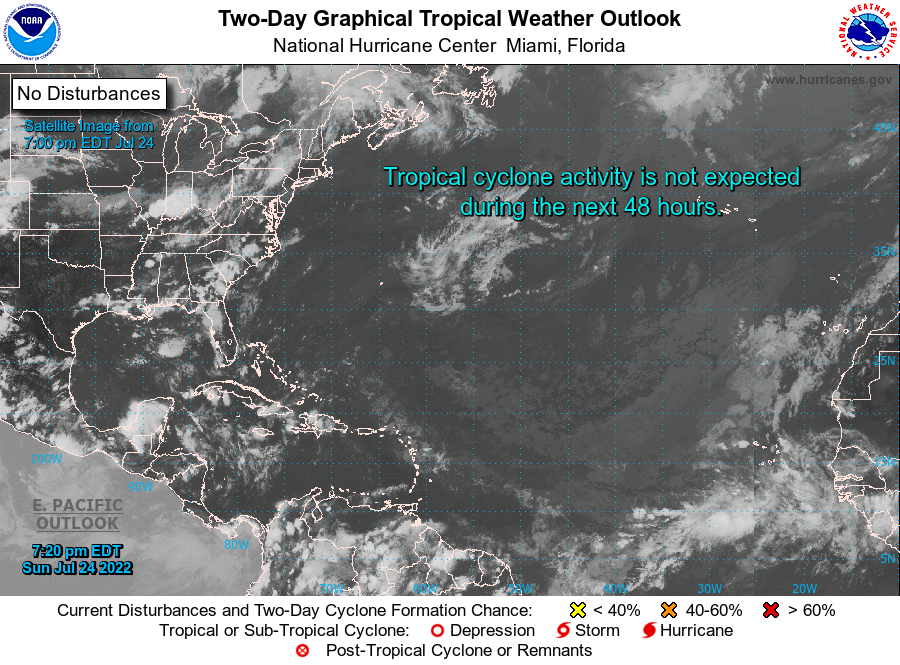 NHC Atlantic 2-Day Graphical Outlook Image
