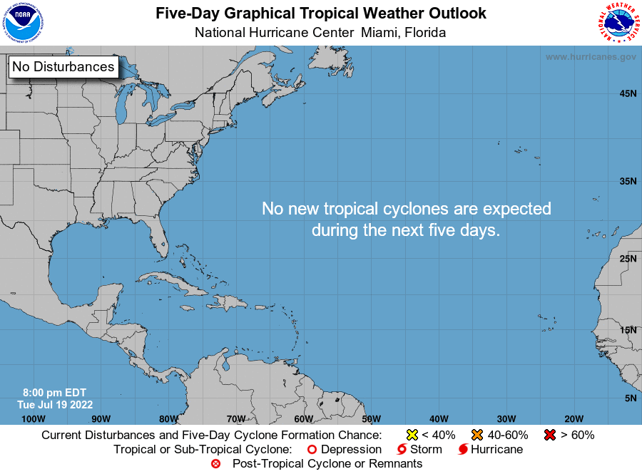 NHC Atlantic 5-Day Graphical Outlook Image